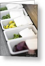 Mixed Fresh Herbs In Kitchen Interior Greeting Card
