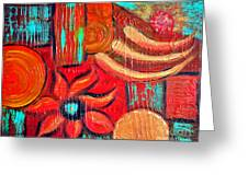 Mixed Media Abstract  Greeting Card