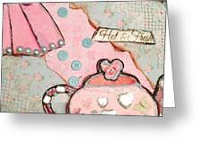 Mixed Media - Kettle  Greeting Card