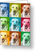 Golden Retriever Warhol Greeting Card