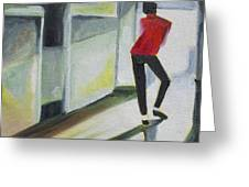 Mj One Of Five Number Three Greeting Card by Patricia Arroyo