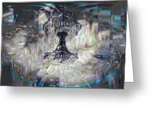 Mjollnir Greeting Card by JC Swart