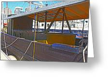 Mv  Krait In Darling Harbour Sydney Greeting Card