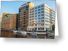 Mke River Twilight Greeting Card