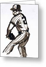 Mlb The Pitcher Greeting Card