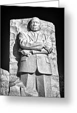 Mlk Memorial In Black And White Greeting Card by Val Black Russian Tourchin