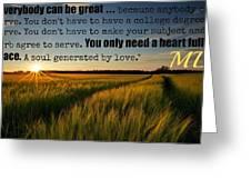 Mlk501 Greeting Card