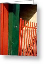 Mntrl Orange Gate 2  Greeting Card
