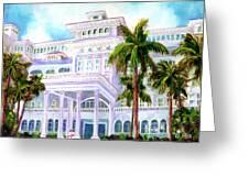 Moana Surfrider Hotel On Waikiki Beach #206 Greeting Card