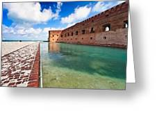 Moat And Walls Of Fort Jefferson Greeting Card
