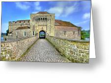 Moat House Leeds Castle Greeting Card by Chris Thaxter
