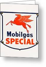Mobil Gas Vintage Sign Greeting Card