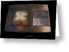 Mobil Two Greeting Card