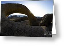 Mobius Arch Alabama Hills California 2 Greeting Card