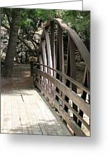 Mocha Colored Walking Bridge In American Fork Canyon Utah Greeting Card
