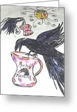 Mocha Raven Greeting Card