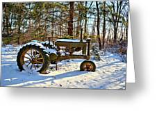 Model A Deere 2 Greeting Card