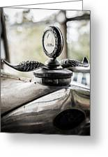 Model A Ford Hood Ornament Greeting Card