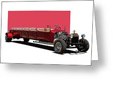 Model A Ford Limousine Greeting Card