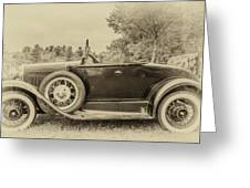 Model A Ford Roadster Greeting Card