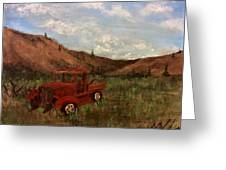 Model A Ghost Town Truck  Greeting Card