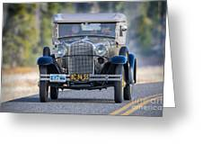 Model A Touring Club Greeting Card