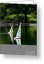 Model Boats Central Park New York Greeting Card