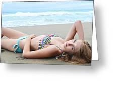 Model Kaitlynn 154 Greeting Card