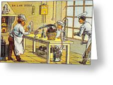 Model Kitchen, 1900s French Postcard Greeting Card