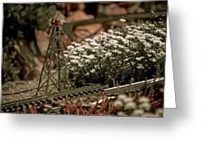 Model Railroad Windmill Greeting Card