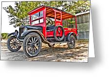 Model T Delivery Greeting Card