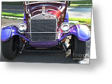 Model T Ford Front End 2 Greeting Card