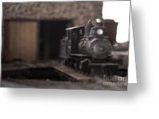 Model Train Greeting Card