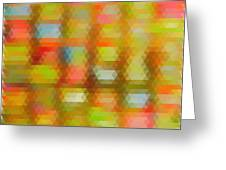 Modern Abstract Mosaic Color Combination 4 Greeting Card