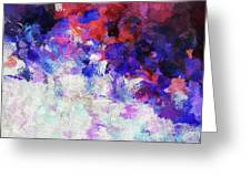 Modern Abstract Painting In Blue Greeting Card