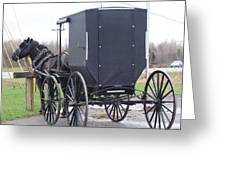 Modern Amish Horse And Buggy Greeting Card