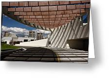 Modern Architecture Of Ismaili Centre Entrance With Aga Khan Mus Greeting Card