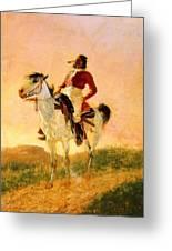 Modern Comanche 1890 Greeting Card