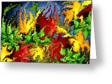 Modern Composition 23 Greeting Card