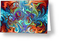 Modern Composition 24 Greeting Card