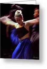 Modern Dance Motion Greeting Card