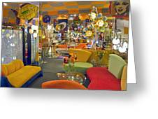 Modern Deco Furniture Store Interior Greeting Card