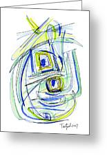 Modern Drawing Forty Greeting Card