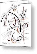 Modern Drawing Sixty-seven Greeting Card
