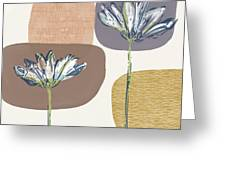 Modern Fall Floral 1- Art By Linda Woods Greeting Card