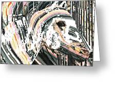 Modern Horse Art By Sharon Cummings Greeting Card