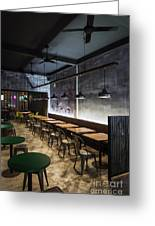 Modern Industrial Contemporary Interior Design Restaurant Greeting Card