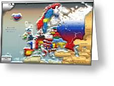 Modern Portrait Of Modern Europe - 3d Greeting Card