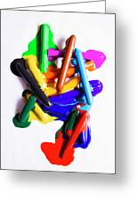 Modern Rainbow Art Greeting Card