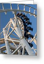 Modern Roller Coaster Greeting Card